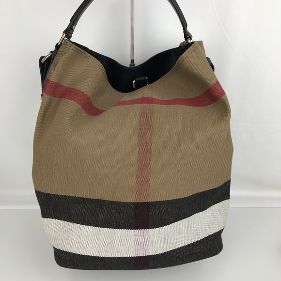 bcafa009ba85 New Burberry Medium Ashby Check Print Tote Bag